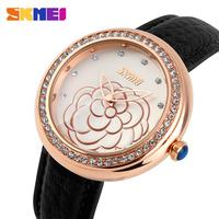 Hot Rhinestone Quartz Watches Women Fashion Luxury Watch Casual Clock Leather Strap Women Dress Wristwatches Relogio Feminino