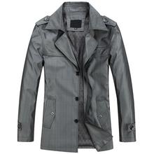 2015 Spring&Autumn Mans Business Long Coats casacos Turndown Collar Slim Jacket Men Trench Coat Men M-3XL nc66(China (Mainland))