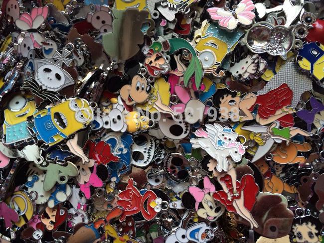 DHL free shipping , Wholesale Popular 1000 pcs cartoon multicolor mix Figures Phone Charm Figures metal Pendant Diy charms(China (Mainland))