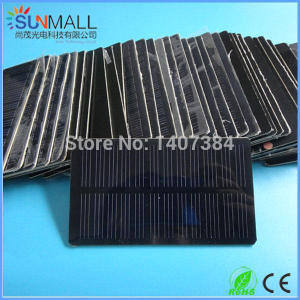 20pcs Mini Solar Module Solar Panel 0.66W/6V + 104*60mm PET Laminated +Monocrystalline Solar Cell(China (Mainland))