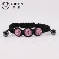 2015 Wholesale Factory cheap price Popular Fashion jewelry colorful clay disco ball women bracelets & bangles