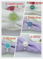 200Pcs  Round Napkin Ring Rhinestones Napkin Rings for Weddings  Napkin Rings shiny 5 Color
