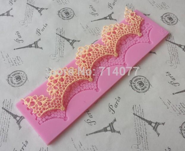 1PCS Silicone Mold Lace Cake Molds Fondant Tools Forma Cake Decorating Tools Silicone Chocolate Mold Bakeware A006(China (Mainland))