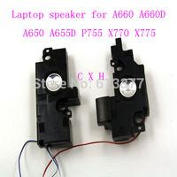 New laptop speaker for Toshiba A660 A660D A650 A655D P750 P755 X770 X775 L:75mm*40mm*20mm R:70mm*32mm*12mm 4 pins  Free shipping
