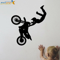 motor bike for kids rooms wall decals sport wall stickers home decorations zooyoo8293 diy removable vinly wall decals bedroom