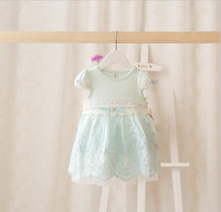 New design light blue style formal party baby dress, summer birthday wedding baby girls dress infant dresses baby clothing