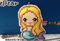 Cartoon double cross-stitch hang / The little mermaid