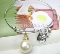 New Arrival!Pearl Charm Design Bangle Fashion bracelet  Handmade