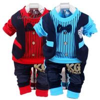 Hot sale baby leisure suit. Bow-tie Korean fashion Baby clothing sets boy vest gentleman style suit 100% cotton children's sets.
