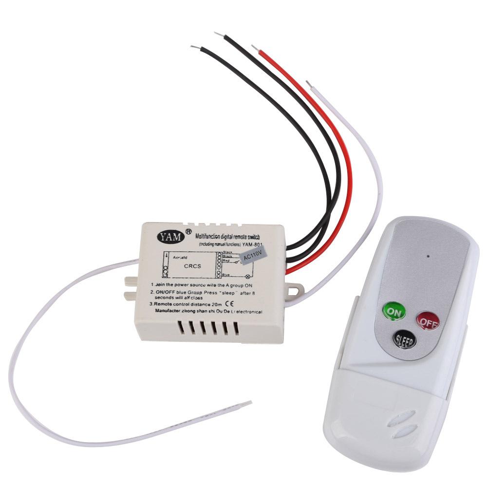 R1B1 1 Way Port 200V-240V Light Digital Wireless Wall Remote Control Switch(China (Mainland))