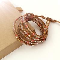 Vikiko fashion gem powder crystal pearl multi-layer wrap bracelet