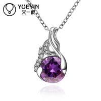 2015 Factory Wholesale cheap price Popular Fashion jewelry elegant Austrian chain  women necklace & pendant