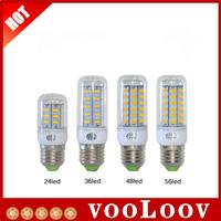 Newest SMD5730 9W 12W 15W 20W E27 led bulb 220V/110V Warm White/ white, 24LEDs 36LEDs 48LEDs 56LEDs 5730 Led lamp Corn Light ~v