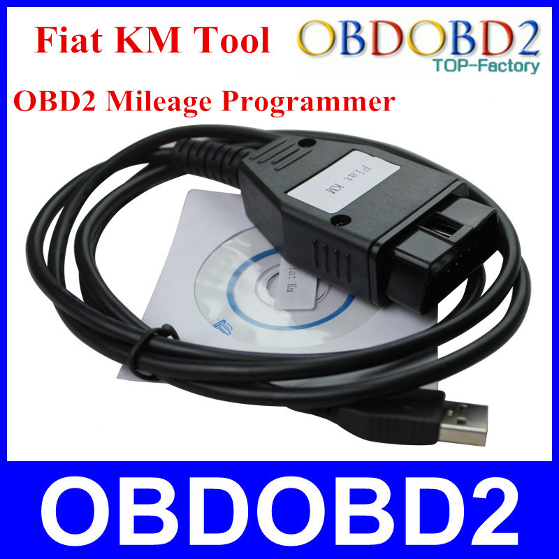 Best Price FIAT KM Program TOOL via OBD2 Mileage Adjust Tool Diagnostic cable adapter Tool With 3 Years Warranty(China (Mainland))