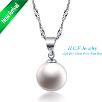 2015 New Arrival Valentine's Day Gift 18K Plated Fashion Crystal Round Pearl Necklace Jewelry Special Price 40% Discount