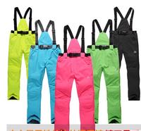 Outdoor Snowboarding  Windproof  Waterproof  Double Layer Female Male Winter Ski Suit Snow Pants For Men Women Size XS-2XL