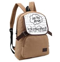 Fashion character school bag mochila feminina rucksack women backpack vintage women travel bags canvas laptop bag bolsa feminina