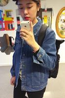 Womens Vintage Cropped Denim Jacket Vest with Pockets