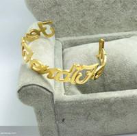 Letter gold f double female fashion letter f rose gold bracelet gift - free shipping