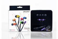 Original awei 900m earphones in ear headphones stereo sound mobile phone computer earphones heatshrinked