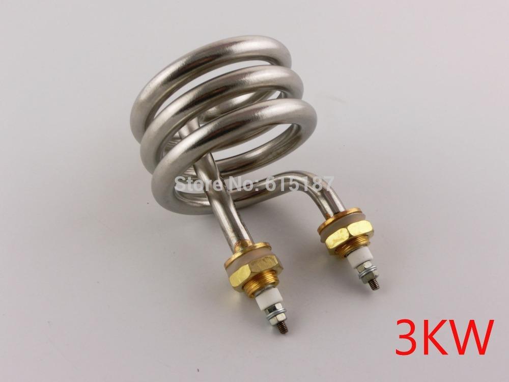 3KW AC 220V Spiral Stainless Steel Immersion Heater Distiller Heating Element(China (Mainland))