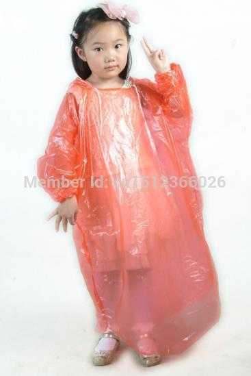 Пэ на открытом воздухе одноразовый Universal дети водонепроницаемый дети плащ SportBra папка кепка веревка манжеты прорезиненная тесьма дождевики