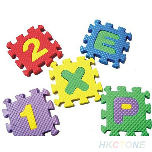 36x Baby Child Kids Novelty Alphabet Number EVA Puzzle Foam Teaching Tools Toy Mats 1PX4 2K5A(China (Mainland))