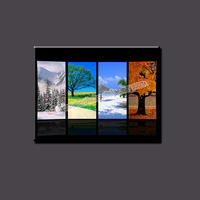 Modern Home Decor Canvas Wall Art Painting of Four Seasons' View Landscape Painting for Home Decoration Canvas Photo Printing