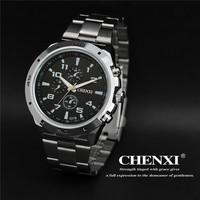 2015 New Fashion Brand CHENXI Men Sports Watch water resistant Full Steel Casual Analog Quartz Watch relogio