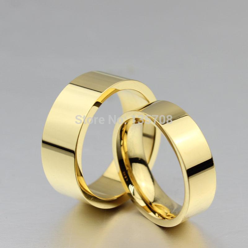 Gold Wedding Rings For Men 2015 New Fashion 18K Gold Plated Wedding Ring Engagement Rings For Men
