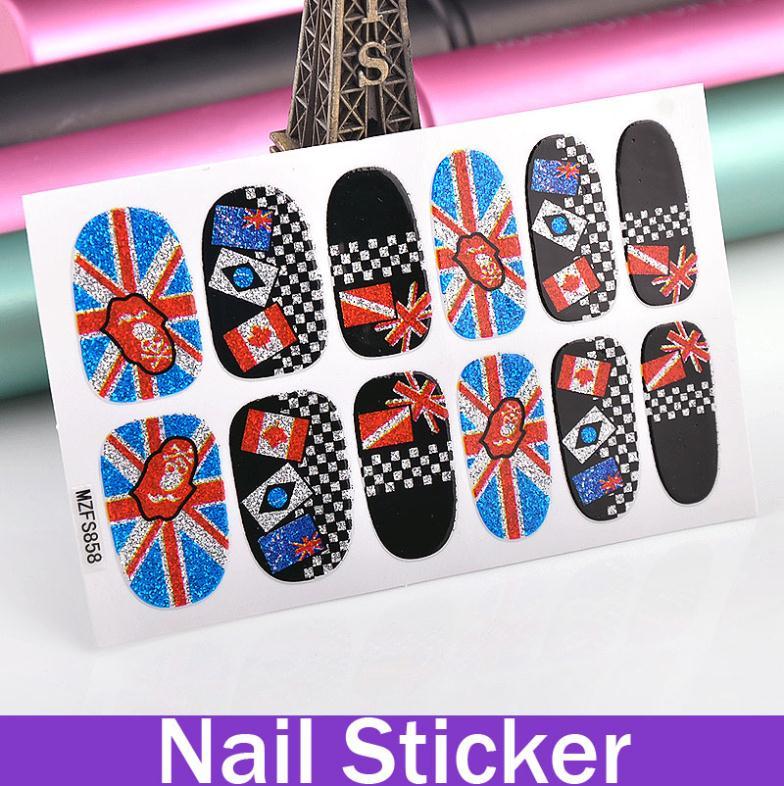 5X Nail Design Stickers Cultural Symbols National Flags Nail Tools Fingernails(China (Mainland))