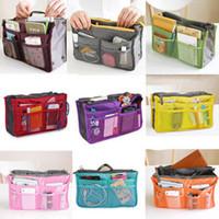 Cosmetic Bag in Bag,Double Zipper Portable Multifunctional Travel Pockets Handbag Storage Bag,Fadish Travel Organizer Makeup Bag