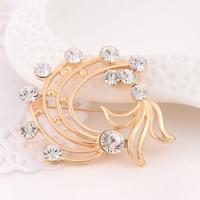 Min order is $10(mix order)Hot Fashion Women Crystal Brooch Pin Flower Jewelry Rhinestone Inlay Brooch Wedding Party Gift