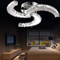 AC 90-260V 18W hot sales CC design Led crystal ceiling lamp luster led crystal pendant lamp living room diameter 460mm