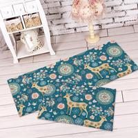 2015 Home Decor Zakka Cute Cartoon Moose Skid Mat Flannel Living Room Frozen Sponge Bedroom Carpets Doormat Free Shipping