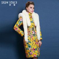 2015 Winter Thicken Warm Woman Down jacket Coat Parkas Outerweat Luxury Plus Size 5XXXXXL Long Hooded Cold Fox Fur collar