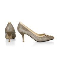 2014 women hot sale high heels prom wedding shoes lady crystal platforms silver Glitter rhinestone thin heel popular party pump