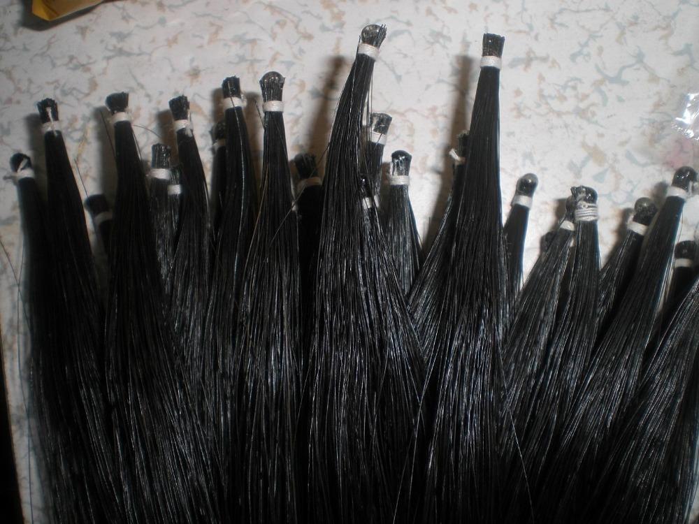 18 Hanks Black Violin Bow hair 7 grams 32 inches real horse hair horse tail(China (Mainland))