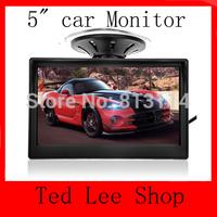 "5"" TFT Color LCD Car Parking Rear View Reverse Monitor High Resolution HD 800*480 (no 320*240) Reversing Camera Free Shipping"
