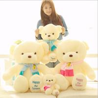 Birthday Valentines Gift Scarf Baby Bear Wedding Plush Toy High Quality Teddy Bear Doll 2 Colors Size 30cm