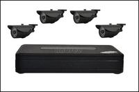 HD 700TVL Surveillance CCTV System 4CH CCTV DVR with 960H CMOS IR Cameras Security System with IR Cut 4CH DVR Kit AS-2304M-4W