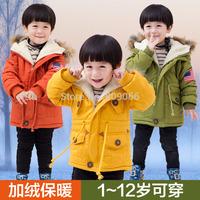 Children's clothing male child cotton-padded jacket outerwear winter thickening 2014 2 female child medium-long 3 - 4 baby child