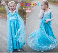 Samgami Baby Brand Kids girls Princess Dress Sequined Cosplay Costume girl party dresses,1pcs,3-10yrs Children Wear