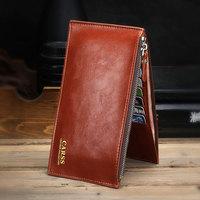 New Arrival 2015 Fashion Men's Credit Card Holder Businessman Wallet Zipper Credit card wallet Travel accessories