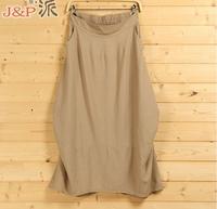 2015 Spring New Arrivals Women's Bust Skirts Linen Ladies' Fashion Skirts Irregular Plus Size Linen Bottoms Popular Design Flax