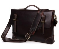SALE Official retro handmade men first layer of leather bag casual shoulder Messenger cross section mobile messenger bags