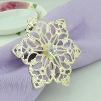 100pcs  Floor empty flower wedding napkin ring CJK100 Free Shipping