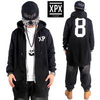 Hip Hop Hoodies Mens 2015 New Lengthen Brand Cardigans Hood Zipper Coat Fashion Outerwear Overcoat Sweatshirt black XPX 8 HBA