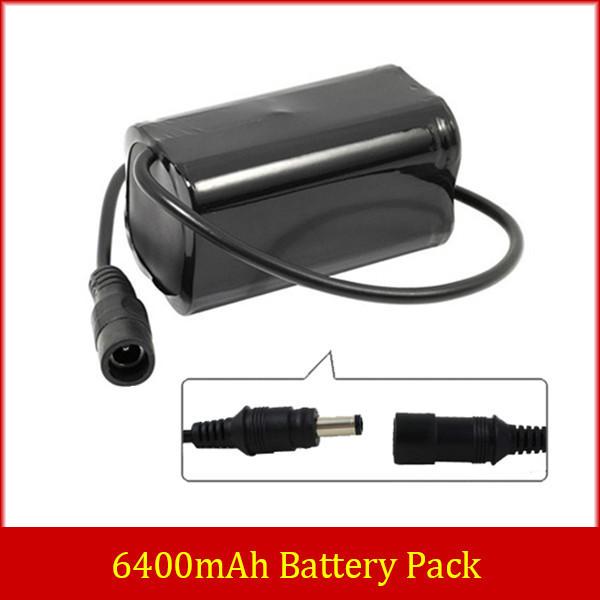 LED Bike Bicycle Lamp Light 8.4v 6400mAh Li-ion 18650 Rechargeable Battery Pack(China (Mainland))