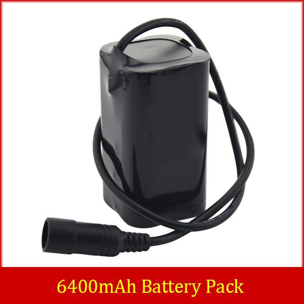 1600lm 1200lm T6 U2 LED Bike Lamp Light 6400mAh 8.4v Li-ON 18650 Battery Pack(China (Mainland))